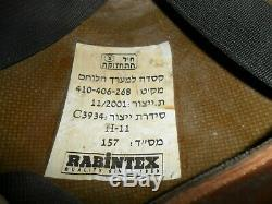 Gimmel De Taille Rare (l) Casque Israélien Actuel. Zahal Idf Fabriqué En Israël Rabintex
