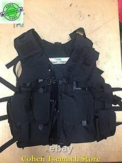 Hagor Officier De Chasse Gilet Tactique Militaire Swat Combat Harnais Idf Noir