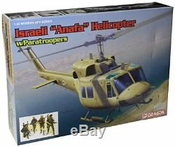 Hélicoptère Uaf Uh-1n De Modèle Dragon Avec Parachutistes De La Force De Défense Israélienne De Tsahal
