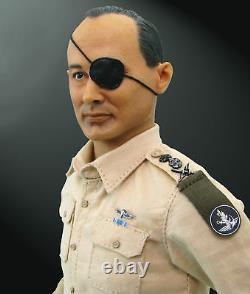 Hobby Master Hf0004 1/6 Chef D'état-major De La Force De Défense Israélienne Moshe Dayan Mib