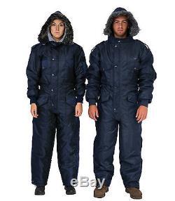 Hommes Femmes Idf Bleu Marine Habit De Neige Vêtements D'hiver Ski Combinaison De Neige Une Pièce