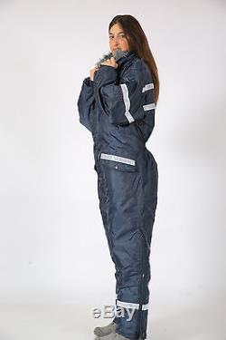 Hommes Femmes Idf Marine Bleu Habit De Neige Vêtements D'hiver Ski Neige Costume Large Réflecteur