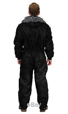 Hommes Femmes Idf Noir Snowsuit Vêtements D'hiver Ski Ski Costume Une Pièce