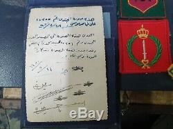 Idf Beaucoup Israël Appartiennent À 6 Jours De Guerre Badges Soldat Et Documents Jordanian