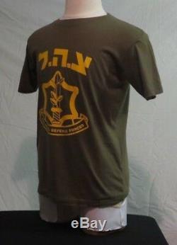 Idf Defense Force Olive Israelien Coton T-shirt M Moyen-orient Des Forces De Sécurité
