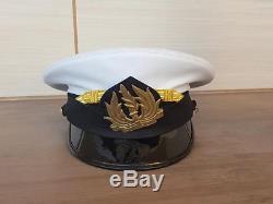 Idf Israel Army Navy Corp Ancien Officier De La Marine Insigne De La Visière Bernard Cap USA