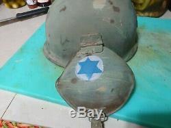 Idf Israel Mk-5 Extrêmement Rare Casque Pare-balles Contre Aucun Revêtement Wow