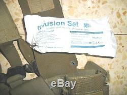 Idf Medic Éphod Gilet Harnais Web Avec Contenu Zahal Armée Israélienne Rabintex 1991