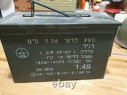 Idf Véritable Boîte En Métal De Munitions Vides