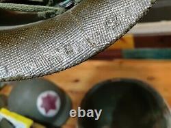 Idf Yom Kippour War Medic Helmet With Liner No Chin Strap Estampillé Wow