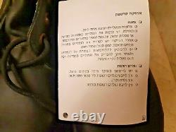 Israel Idf Armée Zahal Boots Chaussures Travail Militaire Cuir Brill Taille 42 8,5