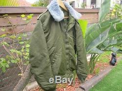 Israël Idf Army Golani Brigade Top Brass L Veste Avec Org. Fur & Zipper! Auth