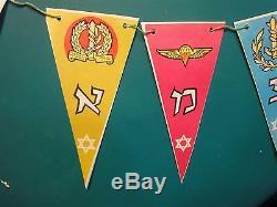 Israel Vtg Paper Idf Zahal Flags Indépendance Des Parachutistes De L'armée De L'air