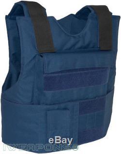 Iweapons Idf Externe Nouvelle Armure Veste Bulletproof Body Nij Iiia / 3a Bleu Large