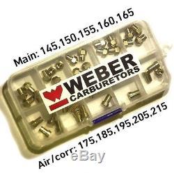 Jets Kit Weber Dcoe Idf 4x Principal 145.150.155.160.165 Air 175.185.195.205.215