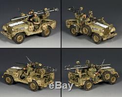 King & Country Forces De Défense Israéliennes Idf017 Israélienne M38 Jeep 106mm Mib Sans Recul