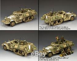 King & Country Forces De Défense Israéliennes Idf020 Armée Israélienne M3 Halftrack Set Sib