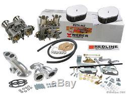 Kit De Carburateur Weber Vw Bug & Type 1 Dual 44 Idf Redline Kit Avec De Véritables Webers