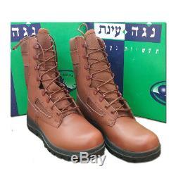 L'armée Israélienne Tsahal Militaire Nouveau Combat Parachutistes Cuir Cordura Bottes Red Brown