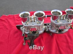 Lancia Scorpion Dual Carburetor Tubulure D'admission, Nouveau, Webers, Idf Carbs