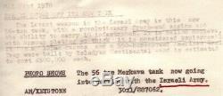 Le Char De Merkava De La Force De Défense Israélienne De 1978 Dans Le Défilé 8x10 Photo D'actualités Originale