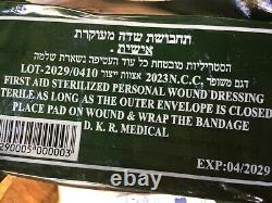 Lot 100 Bandage Armée Israélienne Champ Dressingemergency Tsahal Ifak Trauma Sea Vacuum