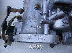 Lot De 2 X 40 Carbones Idf Weber Biocarburant Vw Bug Coléoptère Vw 356 912 Original
