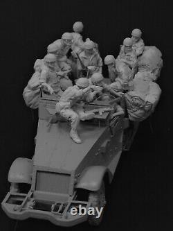 Modèles Ac Tsahal Israeli Paratrooper Crew 12 Chiffres + Arrimage 1/35e Kit Non Peint