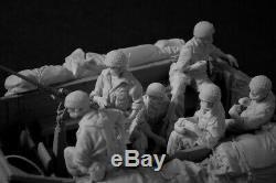 Modèles Ca Idf Israélien Parachutiste Équipage 12 Chiffres + D'arrimage 1 / 35ème Du Kit Unpainted