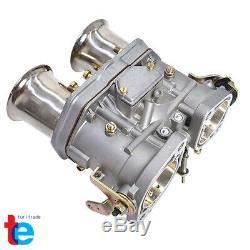 New 48 Idf Carburateur Carb Pour Dellorto Weber Solex Empi 48mm Avec Air Horns