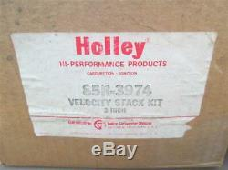 Nos Holley Dominator Carburateur Chrome Velocity 3 Pouces Stacks 85r-3974 Orig Box