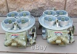 Nos Holley Dominator Carburateurs Paire Liste 6214 Coureur Individuel Application Ir