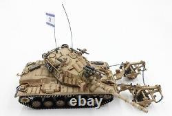 Nouveau Tank De Blazer 172 Israel Fdi M60a1 Avec Le Modèle Kmt-4 Mine Roller Mid-east Wars