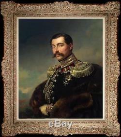 Old Master-art Antique Peinture À L'huile, Portrait Aga Sur Toile 20x24
