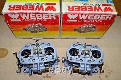 Paire Set Weber Idf 36 Original Fabriqué En Italie! Envoi Gratuit Dans Le Monde Entier