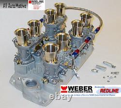 Petit Bloc Chevy 283 327 350 Kit Weber Prise, Liaison Et Véritables Webers 44idf