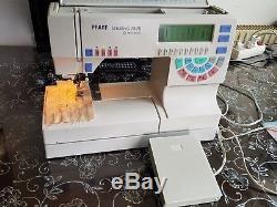 Pfaff Creative 7570 Machine À Coudre Informatisée Avec Système D'alimentation Idf
