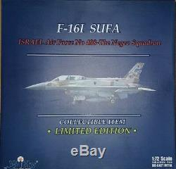 Plein D'esprit Ailes F-16i Sufa Israélienne De Défense Aérienne 408e (néguev) Esc 172 Metall
