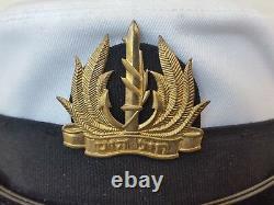 Rare Idf Israel Army Navy Corp Vintage Naval Officer Visor Hat Bernard Cap Femmes