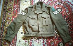 Rare Vintage Israélienne Idf Armée Militaire Veste Judaica 1960