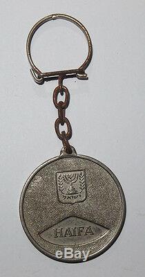 Schlüsselanhänger Force De Défense Israélienne De Haïfa Panzer + Jagdflugzeug