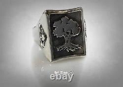 Solid Sterling Silver 925 Golani Israeli Army Idf Zahal Signet Ring Par Ezi Zino