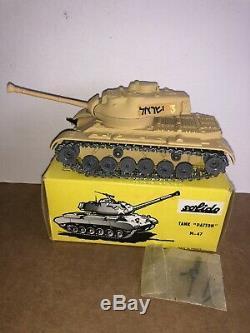 Solido Forces De Défense Israéliennes Tank Patton M-47 Sable / Tan # 202 Monnaie En Boîte