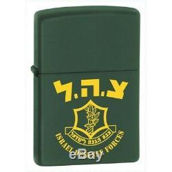 Super Rare Zippo Défense Israélien Briquet Force De Tsahal Israël Militaire De L'armée