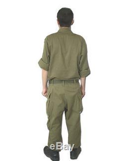 Tsahal, Armée Israélienne Militaire 100% Coton Fatigue Bet Combat Olive Green Uniform