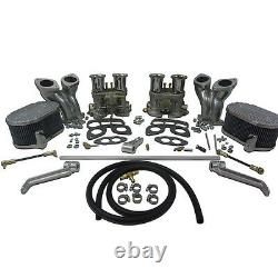 Type 1, Dual 48mm Idf Carburetor Kit Avec Cb Manifolds & Linkage