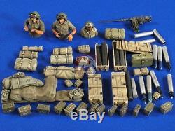 Verlinden 1/35 Idf Sherman M-51 Stockage & Munitions Et Équipage (3 Demi-chiffres) 2723