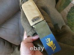 Vieux 1949-1950 Idf Début Hiver Manteau Officier Kiryati Brigade Wow Wow Wow Wow