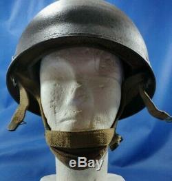 Vintage 1944 L'armée Britannique Bmb Mk II Parachutiste Casque En Acier Airborne Idf