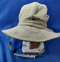 Vintage 50's Idf Zahal Soldier Khaki Hat Stetson Français Made Duvoir Le Mans